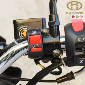Universal Motorcycle Motorbike Handlebar On Off Kill Switch Light's 7/8inch 22mm