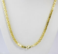 "46.10 gm 14k Solid Gold Yellow Men's Women's Byzantine Chain Necklace 22"" 3.5mm"