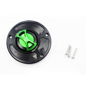 Keyless Gas Fuel Tank Cap Cover For Kawasaki ZX10R ZX14R 06-13 Concours 10-2013