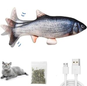 USB Electronic Fish Toy For Cats/Dogs Waggling & Flipping Fun! Carp! Brand New.