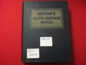 VINTAGE 1949-57 MOTOR'S MANUAL RESTORATION REPAIR BUICK DeSOTO OLDSMOBILE WILLYS