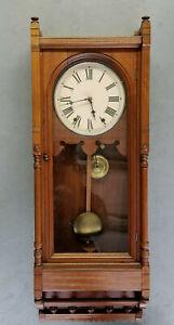 "Beautiful Seth Thomas 'Queen Anne"" Regulator Wall Clock"