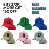 DECKY 402 CLASSIC MENS CASUAL HAT PLAIN BASEBALL CAP FITTED HATS CURVED CAPS