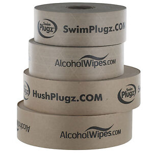 Custom printed gummed paper tape for packaging, standard kraft or reinforced