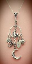 New Design! Perfect Circle of Love Moon & Star Charm Necklace  FREE SHIPPING!
