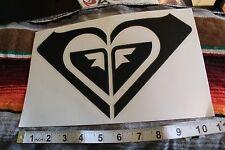 ROXY Black Window Heart Quicksilver Surfboard Rare Vintage Surfing Decal STICKER