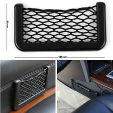 Car Auto Black Storage Resilient Net GPS Phone Bag Packet Holder With Adhesive