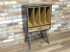 Retro Industrial Filing Cabinet Side Table Storage Rustic Office Cupboard New