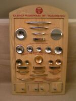 1950's Washington Products Tacoma WA Cabinet Hardware Store Sample Display Board