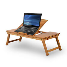 HOMCOM Laptop Stand Foldable Computer PC Table Tray Desk Work Holder Bed