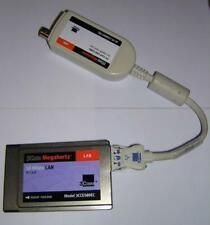 3Com® Megahertz® PCMCIA 10 Mbps Ethernet LAN PC Card+Combo Cable 3CCE589EC
