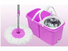 360 ° Rotation Pliant Magic Spinning Spin Mop Seau Floor Mop 2 Microfibre Head