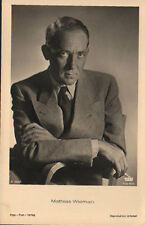 OLD POSTCARD GERMANY ACTOR MATHIAS WIEMAN YEARS 1940 POSTKARTE POSTAL     CC1332