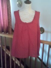 Women's Blouse, Red & White dot 1950s Style Sleeveless Blouse, Unworn Condition