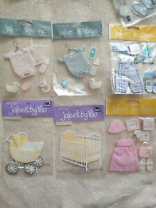 Jolee boutique baby card toppers baby boy and girl