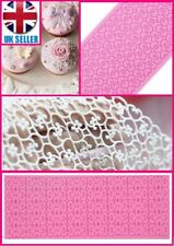 DIY Silicone Lace Mold Mould Sugar Craft Fondant Mat Cake Decorating Baking Tool