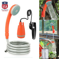 Outdoor Portable Shower Head Camping Water Pump Hiking Travel Rechargeable US