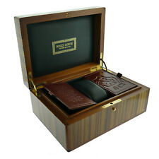 ROGER DUBUIS BROWN LACQUERED WATCH PRESENTATION BOX + OUTER BOX