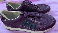 Helly Hanson Purple Leather Low Top Sneakers Shoes Mens 8.5