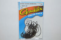 gamakatsu 1/0 offset ewg shank worm tube senko hook 25 pr value pack 58411-25