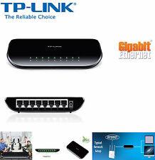 TP-LINK TL-SG1008D 8-Port Desktop Gigabit Ethernet Switch 1000Mbps UK Plug