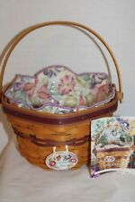 New Listing2000 Longaberger Morning Glory Basket, Fabric, Protector, Tie-On, Card