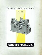 Gendron Freres Lyon Frankreich Prospekt Schleifmaschinen R 15 um 1960