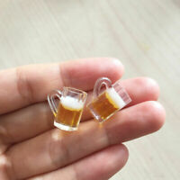2pcs Dollhouse Miniature 1:12 Scale Toy Kitchen Beer Drinking Cups Mug Accessory