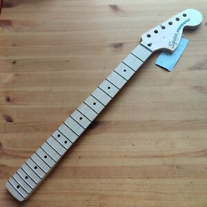 New Squier By Fender Neck Maple 1 Piece Strat Stratocaster Big 70s Headstock