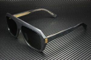 DUNHILL DU0022S 004 Rectangular Squared Black Grey Grey 59 mm Men's Sunglasses