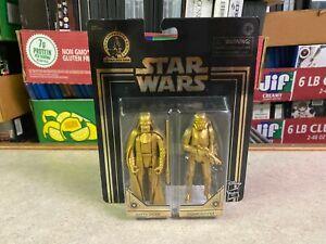 Star Wars Commemorative Gold 2 Pack Figure Set DARTH VADER & STORMTROOPER