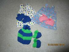 18'' Doll Clothes/2 Jumper Dresses/Hat Set /Will Fit American Girl Doll