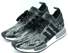 Adidas NMD R1 PK Primeknit Glitch Camo Grey Three Mens Size 9.5 BZ0223 NEW