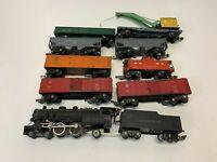 Amazing American Flyer Pre-War Train Set - Locomotive, coal car and 8 more cars