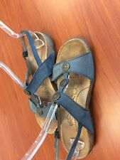 Orthaheel Blue Oiled Leather Ankle Strap Sandals EUR 40  US 9