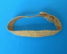 Vintage Barbie SKIPPER SILK N FANCY GOLD ELASTIC HEADBAND #1902 EUC 1964-1965