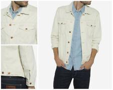 Cappotti e giacche da uomo beige in cotone con colletto