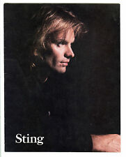 1987 Sting Nothing Like The Sun Original 11 x 14 Concert Program Book The Police