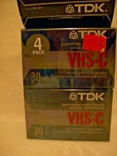 Tdk Vhs-C Superior High Grade camcorder Video Tapes - 4 Pack
