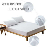 Waterproof Mattress Pad Cover Anti-slip Bed Protector Twin Full Queen King New