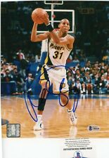 Reggie Miller HOF Indiana Pacers Signed Autographed 8x10 Glossy Photo Beckett