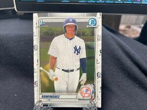 Jasson Dominguez 2020 1st Bowman Chrome BCP-8 Yankees First Bowman Rookie - C