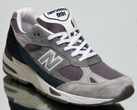 New Balance M991 Made in UK Men's Grey Blue Teal Lifestyle Sneakers Shoes