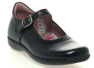 Petasil Bella Girls Black Leather School Shoes - Hurry Last 3 Pairs Left