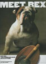 Don Rex Cigar Handmade Meet Rex Pug Dog Vintage Print Magazine Ad 1997 Rare
