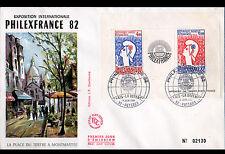 FRANCE / EXPOSITION PHILEXFRANCE 82 / BLOC FEUILLET Enveloppe Oblitérée 11 Juin