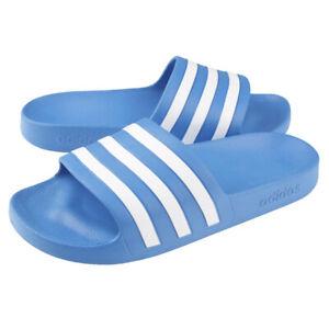 Adidas Adilette Aqua Slides Sandals Slipper Sky Blue/White F35541