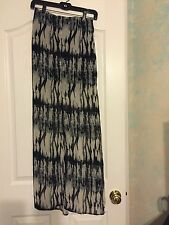 by Corpus Black & Ivory Maxi Skirt Size Small Open front sheer bottom
