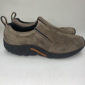 Merrell Jungle Noc J60787 Mens Size 13 Gunsmoke Suede Slip On Hiking Shoes