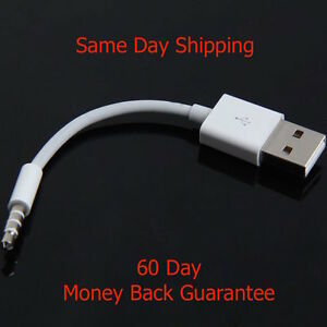 USB Charger Data SYNC Cable for Apple iPod Shuffle 3rd 4th 5th Generation 3.5mm
